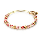 ALEX AND ANI美國手工 熱帶粉紅混色玻璃珠金色手環