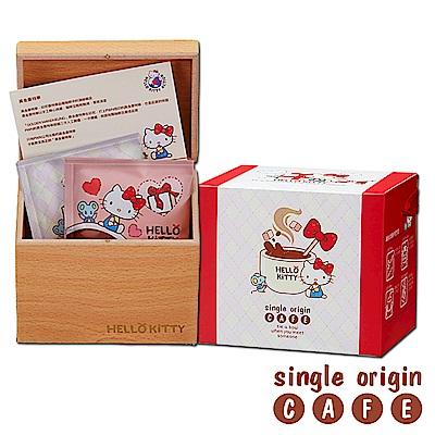Hello Kitty Coffee 加朵GATO濾掛咖啡木箱禮盒-黃金曼特寧(10gx8入)