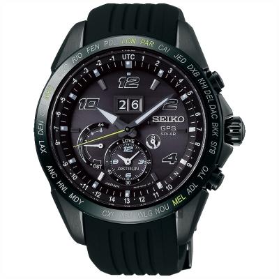 SEIKO精工 GPS 8X42 大視窗GPS太陽能衛星限量手錶(SSE143J1)