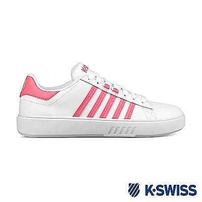 K-swiss Pershing Court CMF 休閒運動鞋-女-白/粉紅