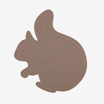 Dailylike 森林樂園造型矽膠隔熱墊-01松鼠