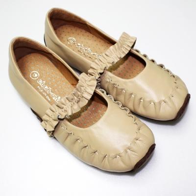 ohoh-mini-孕婦裝-荷葉織帶紓壓真皮氣墊鞋-孕婦鞋