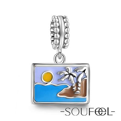 SOUFEEL索菲爾 925純銀珠飾 明信片 吊飾