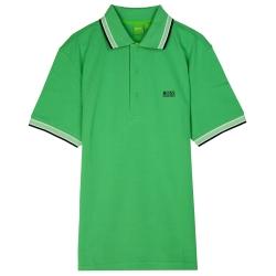 HUGO BOSS 綠標滾邊線素面POLO男衫(淺綠)