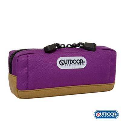 OUTDOOR-復古學院皮底筆袋-葡萄紫-ODS130239GJ