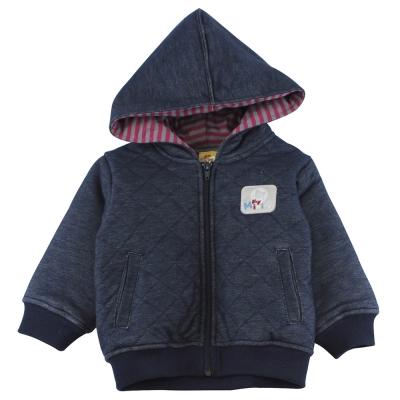 愛的世界 MYBABY 小狐狸舖棉連帽長袖外套/1~3歲