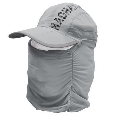 全方位防曬速乾 可拆式透氣護頸遮陽帽 (淺灰)