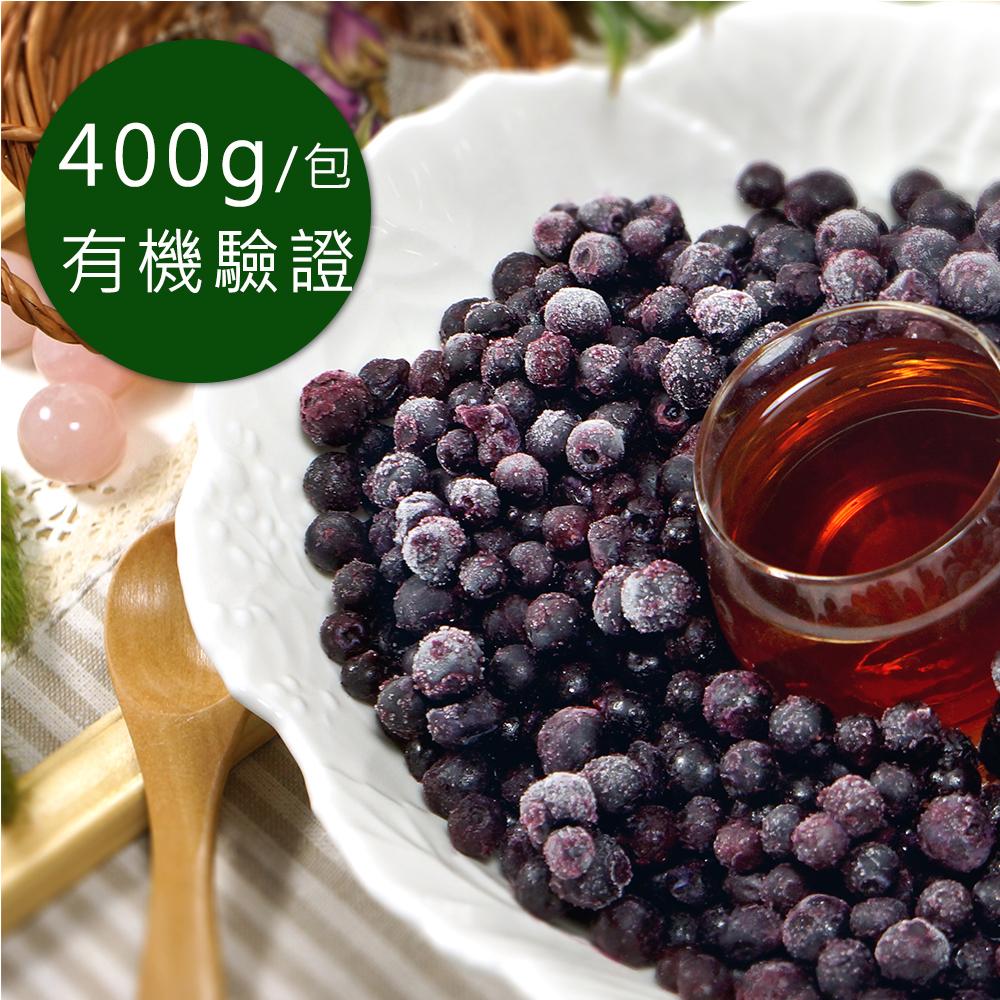 (任選880)幸美生技-有機冷凍野生藍莓(400g/包)