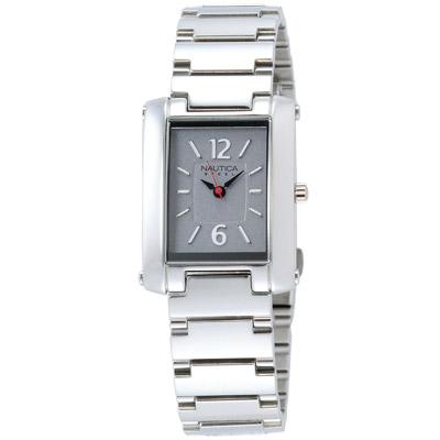 【NAUTICA】簡約時尚腕錶(灰/24mm)