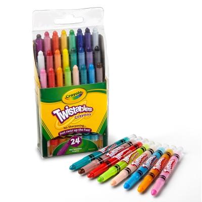 美國crayola 精選系列-迷你旋轉24色蠟筆-經典色(3Y+)