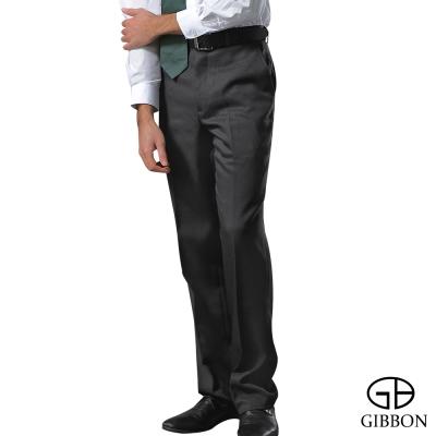 GIBBON 尊爵紳士羊毛料平口西裝褲‧灰色28~42