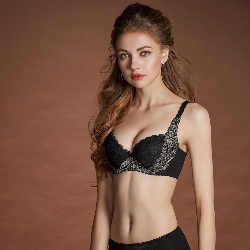 曼黛瑪璉 Hibra大波內衣  E-G罩杯(黑)