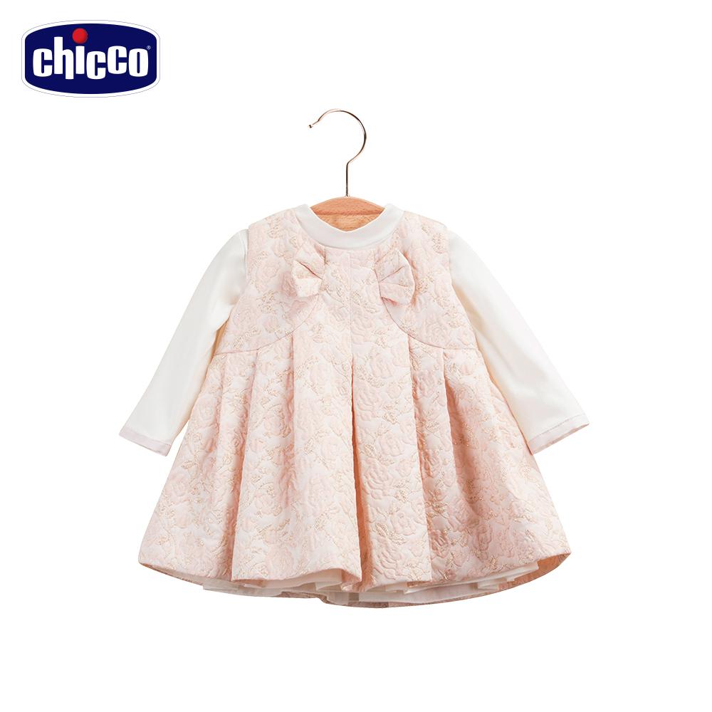 chicco玫瑰洋裝-粉12-24個月