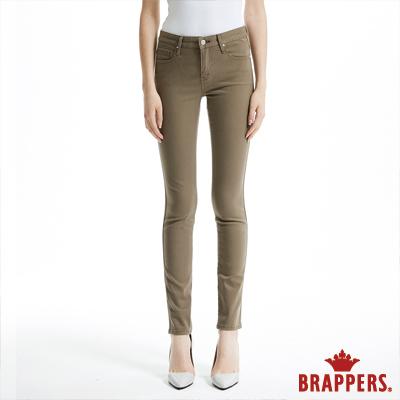 BRAPPERS 女款 AC Cargo 系列-中腰彈性窄管褲-卡其綠
