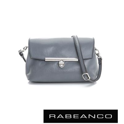 RABEANCO-迷時尚系列經典轉扣撞色斜背包-藍灰