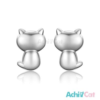 AchiCat 925純銀耳環 小貓
