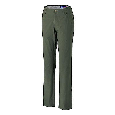 【Wildland 荒野】女四向彈性抗UV合身長褲-墨綠