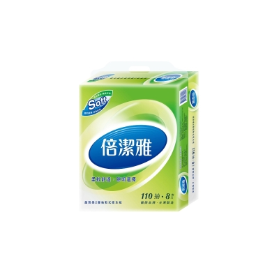 倍潔雅超質感抽取式衛生紙110抽X80包/箱