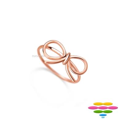 彩糖鑽工坊 桃樂絲 Doris系列 銀鍍玫瑰金銀戒