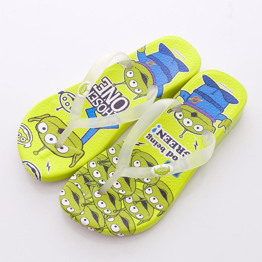Disney迪士尼-三眼怪繽紛夾腳鞋-44024713綠(女段)