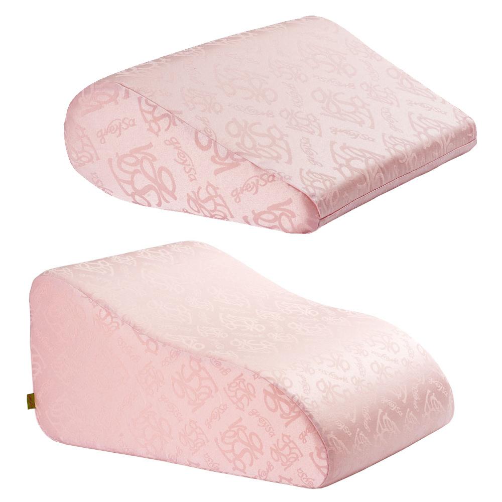 【GreySa 格蕾莎】 抬腿枕+輕鬆枕 (粉紅)
