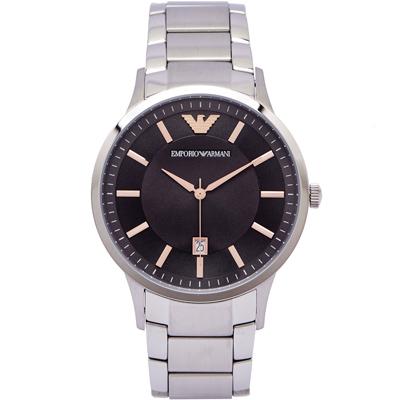 ARMANI 沉靜摩登男性簡約手錶 (AR2514) -灰黑面/42mm