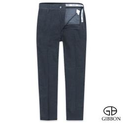 GIBBON slim fit柔棉質感平口休閒褲‧暗藍30-42