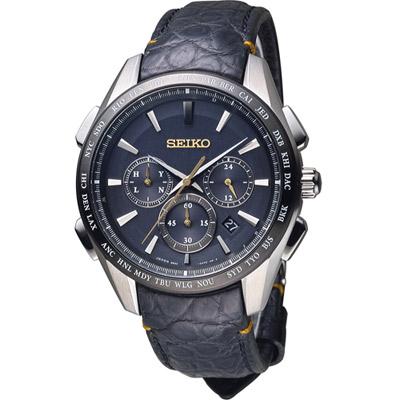 SEIKO Brightz 太陽能電波腕錶(SAGA221J)黑/43mm