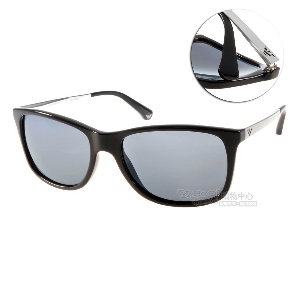 EMPORIO ARMANI太陽眼鏡 時尚歐美款/黑#EA4023 5017(偏光)