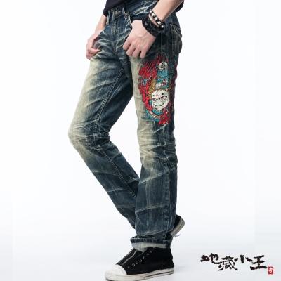 地藏小王 BLUE WAY 龍火低腰直筒褲