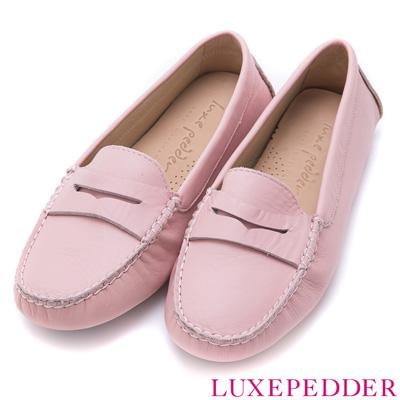 Luxepedder全真皮豆豆鞋-MIT小牛皮-粉