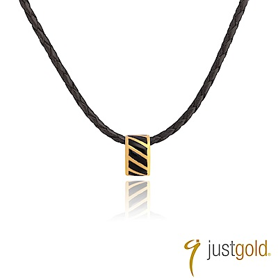 鎮金店Just Gold 黃金串珠/吊墜- Mini Ring (黑色)