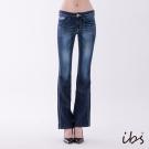 IBS 經典美型鑽飾靴型褲-深藍-女