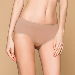 台灣製 保養級天然蠶絲蛋白低敏感透氣 M-XL 中腰內褲 可可咖 可蘭霓Clany