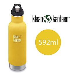 【美國Klean Kanteen】窄口不鏽鋼保溫瓶-592ml-萊姆黃