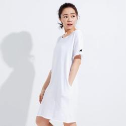 101原創 馬來貘-Facedown圓領反摺口袋長版T恤上衣-白