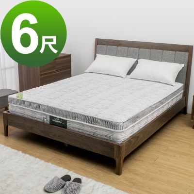Boden-科技銀奈米抗菌涼感乳膠獨立筒床墊(軟硬適中)-6尺雙人加大