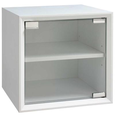 魔術方塊36系統收納櫃/玻璃門櫃-白色