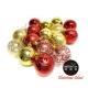 聖誕樹裝飾球 60mm(6CM)雙色霧亮透混款電鍍球16入吊飾組合(紅金色系) product thumbnail 1