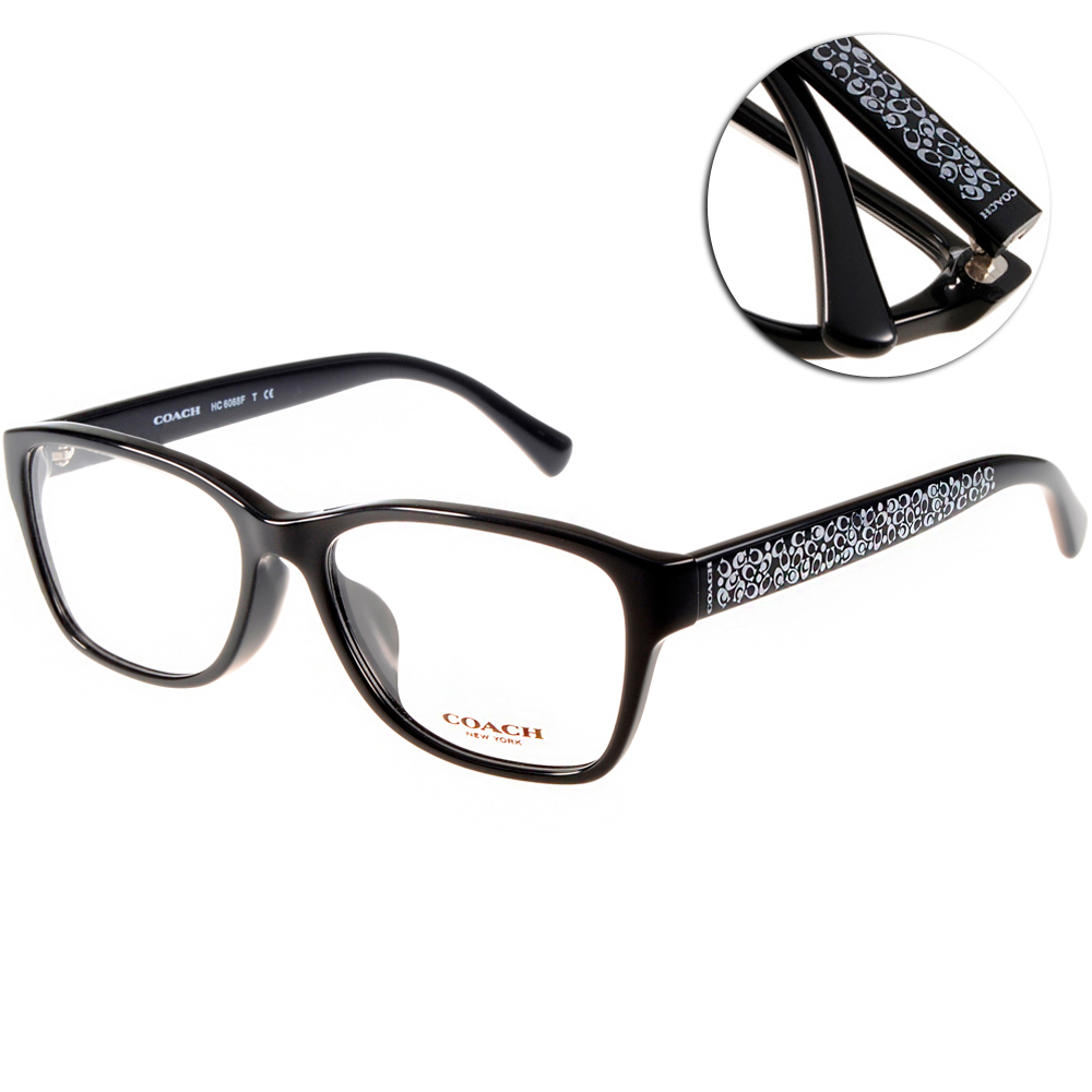 COACH眼鏡 美式典雅/黑#CO6068F 5002