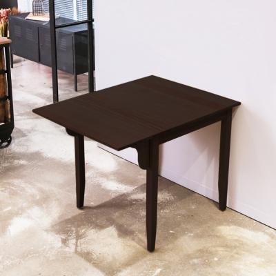 CiS自然行實木家具-單邊實木延伸桌74~98cm(焦糖色)
