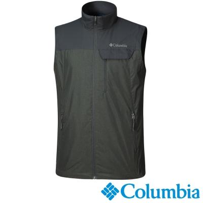 【Columbia哥倫比亞】男-防風背心-綠色 UYM16510GR