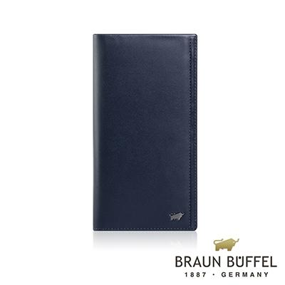 BRAUN BUFFEL -ANDRO 安卓系列7卡V型格片長夾 - 海軍藍