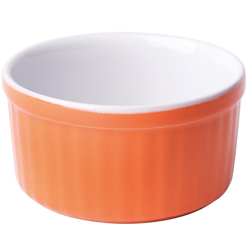 EXCELSA Sweet陶製布丁烤杯(橘10.5cm)