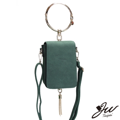 JW 日韓時尚名媛麂皮金環流蘇側背手提包 共五色