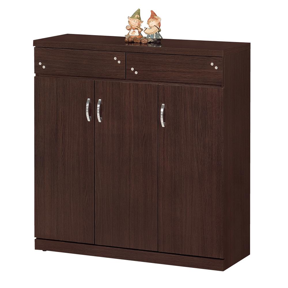 品家居 優雅3.8尺胡桃色鞋櫃-114x40x121cm-免組