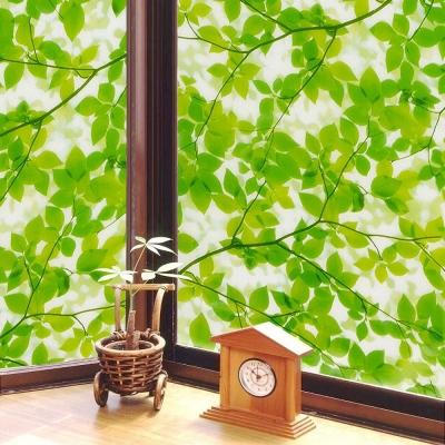 ★促銷★〔日本MEIWA〕抗UV靜電窗貼 (綠葉盈窗)92x200公分
