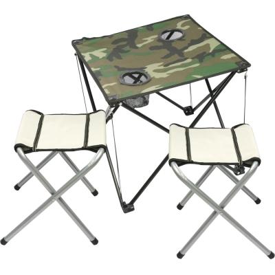 迷幻森林輕量摺疊桌*1+輕巧四角凳*2