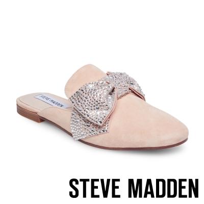 STEVE MADDEN-HARLAN-NATURAL 水鑽蝴蝶結穆勒鞋-粉色