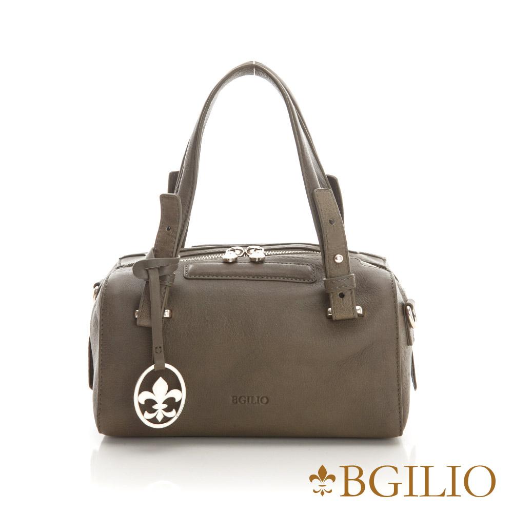 義大利BGilio-潮流時尚簡約牛皮小包-橄欖綠色 2260.001A-08